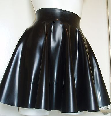 Latex fetish full Circle skating SKIRT Gummi Rubber sexy fetish TV UNISEX Black