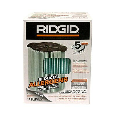 RIDGID VF6000 Wet/Dry Reduces Allergen Filter - Brand New -