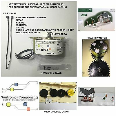DEPARTMENT 56-Clearing The Driveway Again-56.53184- REPLACEMENT MOTOR -PARTS KIT