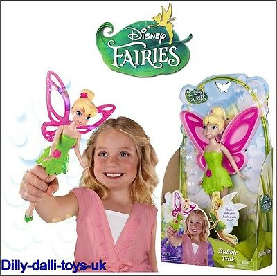 "NEW Disney Fairies Bubble Tink Tinkerbell 9"" Doll Figure Bubble Wand Tinker Bell"