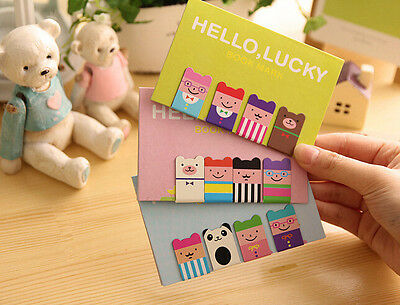 Magnetic Bookmarks 1 Set=4Pc Very Cute Characters Bookmark Assorted - CB5B