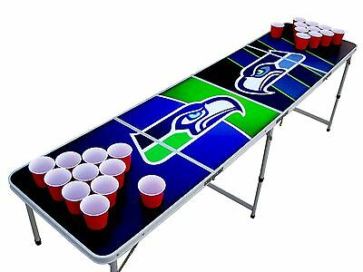 Seattle Seahawks Beer Pong Table WITH pre-drilled cup HOLES Russel Wilson