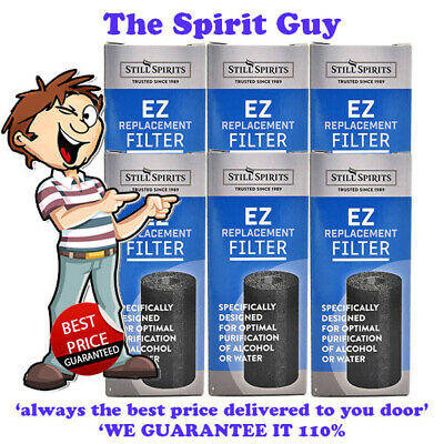 EZ FILTER CARBON CARTRIDGE X 6 @ $42.00 By STILL SPIRITS