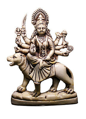 Indian Hindu Goddess Durga Resin Idol Sculpture Statue 7 Inches