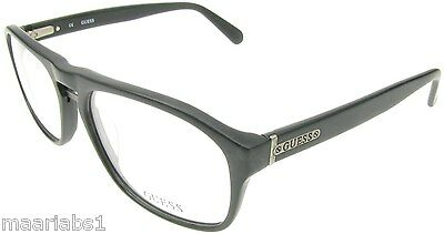 Authentic Guess Black Matte Finish Eye Reading Glasses Spectacles Frames New