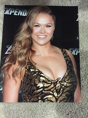 Ronda Rousey UFC SEXY signed 8x10 autographed photo The Expendables