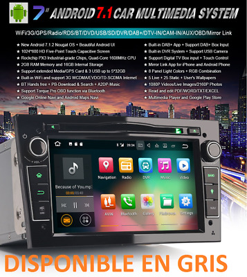 "Radio Dvd 7"" Exclusiva Opel Hd Android 5.1 Gps Wifi 3G Bluetooth Ipod"