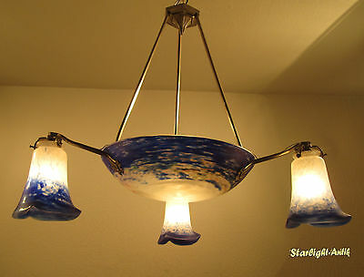 Wonderful French Art Deco Chandelier 1925 - Signed: Noverdy France