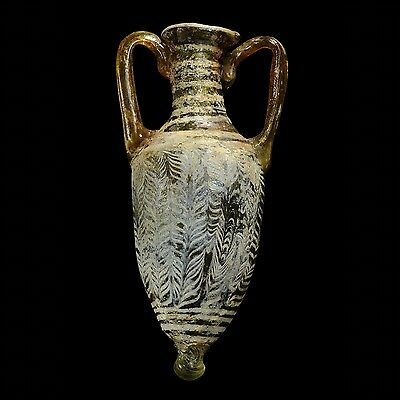 Aphrodite- Ancient Phoenician Core Formed Glass Amphoriskos