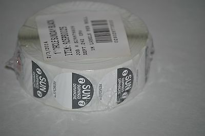 "Trilingual Food Rotation Labels, 1"" Circle Sunday Black, 1000 Per Roll"