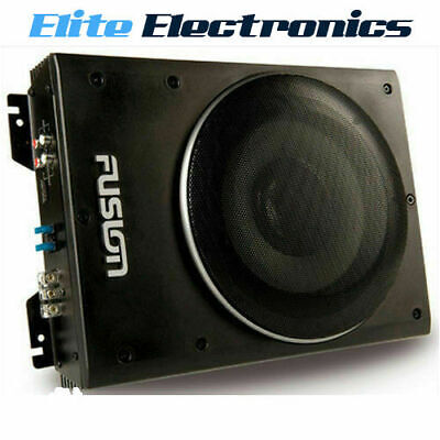 """Fusion Cp-As1080 8"""" 600W Active Slim Low Profile Amplified Powered Subwoofer Car"""