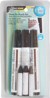 Dritz 44159 Dark Wood Re-Touch Marker Set, Assorted. Delivery is Free