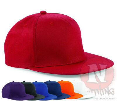 Snapback rapper cap 5 panel flat peak cotton baseball hat adjustable unisex New