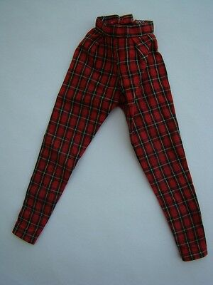 """Judy Littlechap 13"""" Doll Red & Black Plaid Check Pants Trousers Football Outfit"""