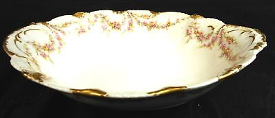 Antique Theodore Haviland Limoges France Serving Bowl Schleiger 145c