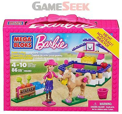 Mega Bloks Barbie Build N Play Pony Care - Toys Brand New Free Delivery