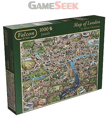 Jumbo Games Falcon De Luxe Map Of London Jigsaw Puzzle (1000-Piece) - Brand New