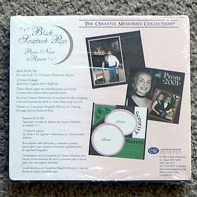 CREATIVE MEMORIES 7x7 BLACK PAGES BNIP