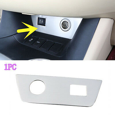 Stainless Front Seat Cigarette Lighter Decorate Panel for Toyota Highlander 2015