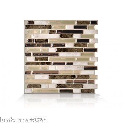 Smart Tiles SM1042-6 SELF-ADHESIVE WALL TILES 6/SHEETS BELLAGIO BELLO 4.2 sq/ft