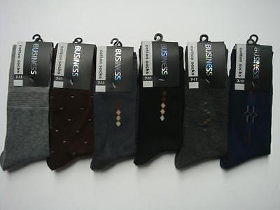 12 Pairs Brand New Cotton Mens Work/business/dress Socks  Size: 7-11 (Special)