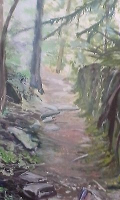 """24"""" x 30"""" x 1"""" oil painting ."""" Nature Trail """""""