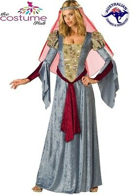 LADIES Medieval Costume Game of Thrones Silver Maid Marian 8 - 12 AU