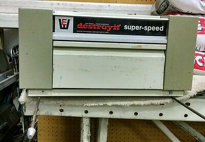 DestroyIt Super-Speed 9658 Strip-Cut Paper Shredder