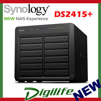 "Synology DiskStation DS2415+ 12-Bay 3.5"" Diskless 2xGbE NAS (Scalable)"
