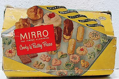 Vintage Mirro Cook Pastry Press Comes With Recipes No 358 Am The Finest Aluminum