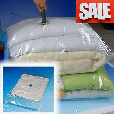 12 X Large Space Saving Storage Vacuum Bags Under Bed Clothes Bedding Organiser