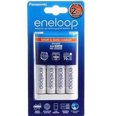 Panasonic Eneloop Quick Charger (2Hrs) Including 4 x AA Batteries - Aus Plug