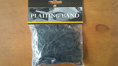 Lincoln Black Plaiting Bands 500 pack or multiple buy offers