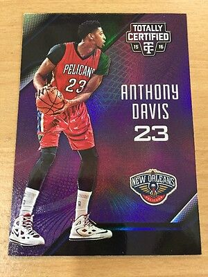2015/16 Panini Totally Certified Anthony Davis 22/50 Purple Parallel Pelicans