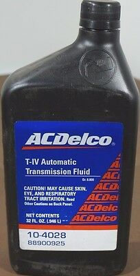 New T-IV Automatic Transmission Fluid 1 Quart ACDelco P/N: 10-4028