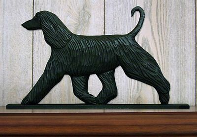 Afghan Figurine Sign Plaque Display Wall Decoration Black