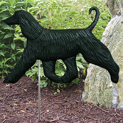 Afghan Outdoor Garden Sign Hand Painted Figure Black