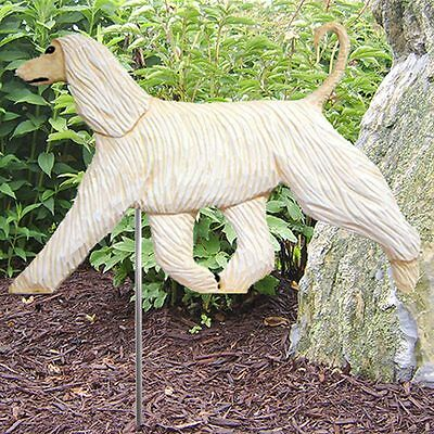 Afghan Outdoor Garden Sign Hand Painted Figure Cream