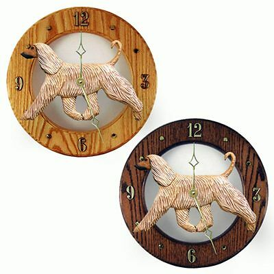 Afghan Wood Clock Wall Plaque Fawn