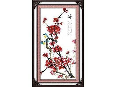 Happy Forever Cross Stitch,Chinese style flowers,Four gentlemen,plum blossom 2.