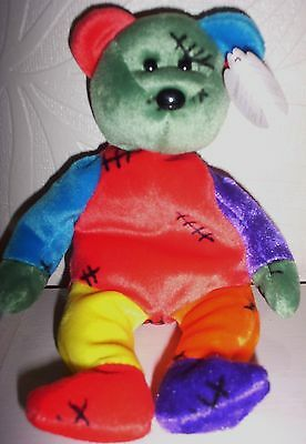 Excellent Condition Original Ty Beanie Baby Frankenteddy  Rare With Errors