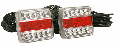 LED Trailer Lights - Pair c/w 8Mtr Cable