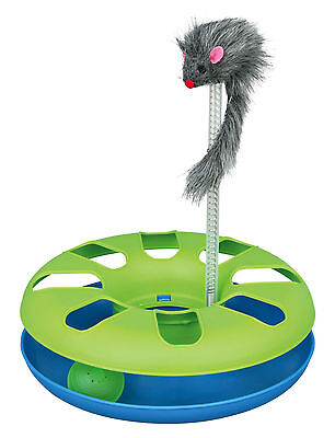 Crazy Circle Cat Toy with Plush Mouse on Spring & Toy Ball for Cats & Kittens