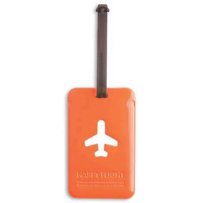 ALife Design Kofferanhänger Happy Flight Square Luggage Tag orange