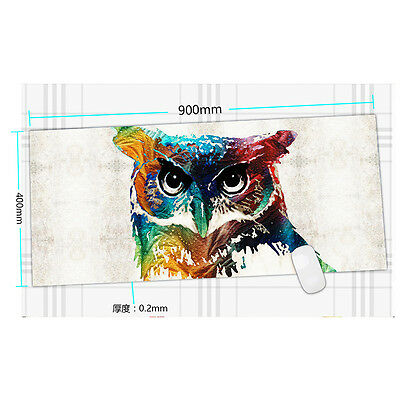 900*400*2MM Large Pro Gaming Qwl Pattern Mouse Pad Mat for PC Laptop Computer