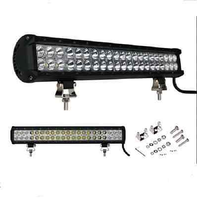 126W 20inch CREE LED Spot Flood Combo 4WD Work Light Bar Offroad UTE Lamp SUV
