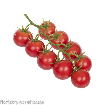Artificial Red CherryTomato 9 Fruits on a 21cm/8.25 Inch Vine Mock Fruits