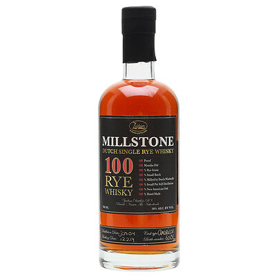 Zudiam Millstone Dutch Single Rye Whisky 700mL