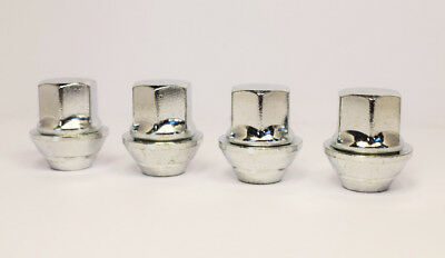 4 x Ford Focus M12 x 1.5, OE Style, Alloy Wheel Nuts (Silver)