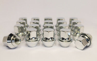20 x Ford Focus M12 x 1.5, OE Style, Alloy Wheel Nuts (Silver)